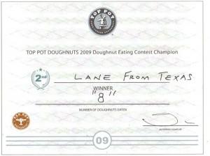 doughnut certificate