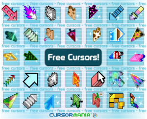 "ad which shows cursors and says, ""free cursors"""