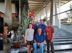 Daniel Mietchen, Lane Rasberry, Brian, Gabriel Thullen, and a new Wikipedian.